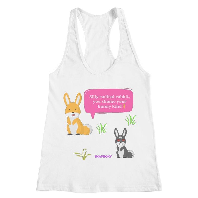 Bunny kind Women's Racerback Tank by Soapboxy Boutique