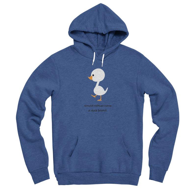 Duck friend Women's Sponge Fleece Pullover Hoody by Soapboxy Boutique