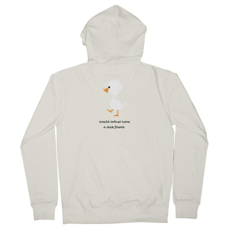 Duck friend Women's Zip-Up Hoody by Soapboxy Boutique