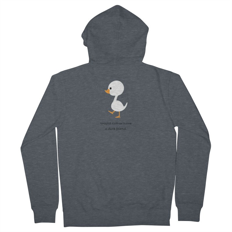 Duck friend Men's Zip-Up Hoody by Soapboxy Boutique