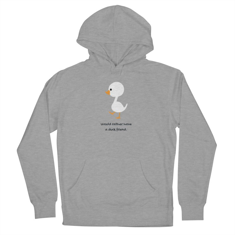 Duck friend Men's French Terry Pullover Hoody by Soapboxy Boutique