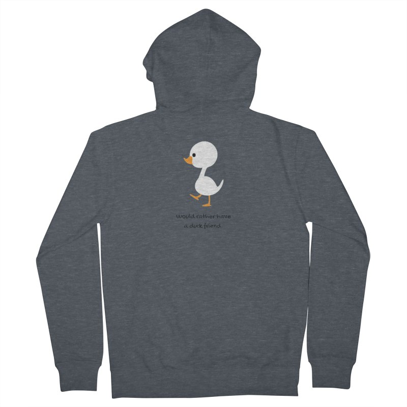 Duck friend Men's French Terry Zip-Up Hoody by Soapboxy Boutique