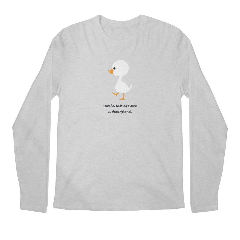 Duck friend Men's Regular Longsleeve T-Shirt by Soapboxy Boutique