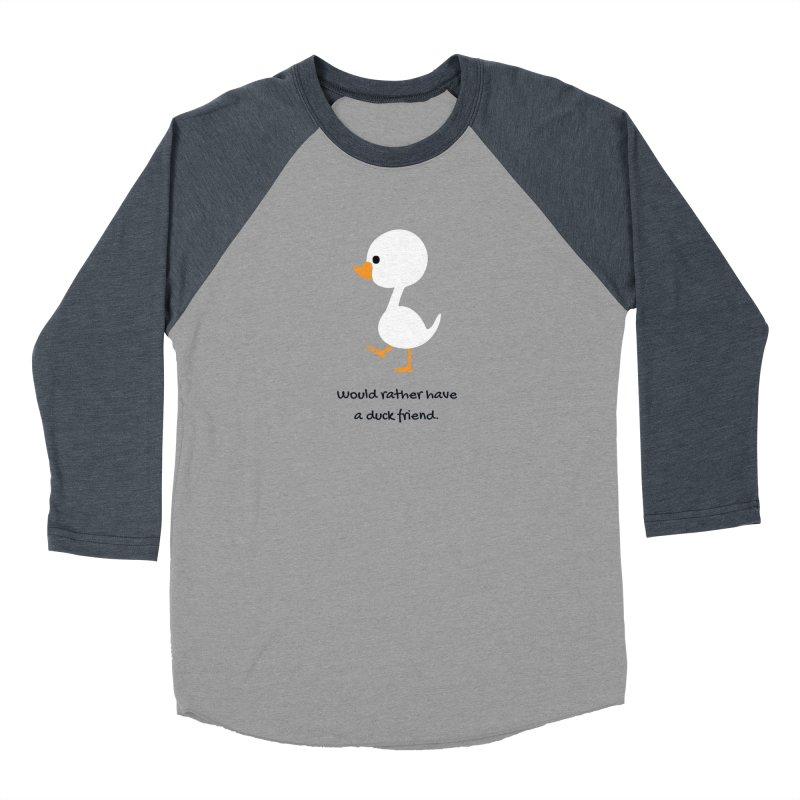 Duck friend Men's Baseball Triblend Longsleeve T-Shirt by Soapboxy Boutique