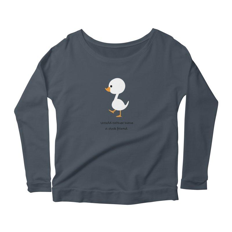 Duck friend Women's Scoop Neck Longsleeve T-Shirt by Soapboxy Boutique