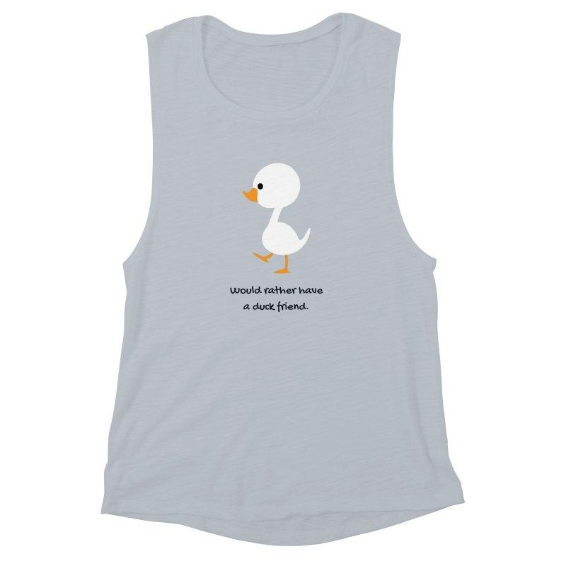 Duck friend Women's Muscle Tank by Soapboxy Boutique