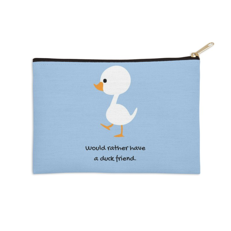 Duck friend Accessories Zip Pouch by Soapboxy Boutique