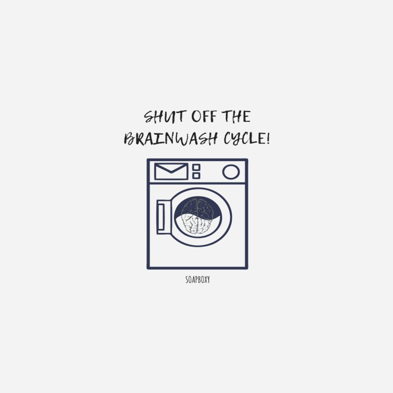 Shut off the brainwash cycle Accessories Notebook by Soapboxy Boutique
