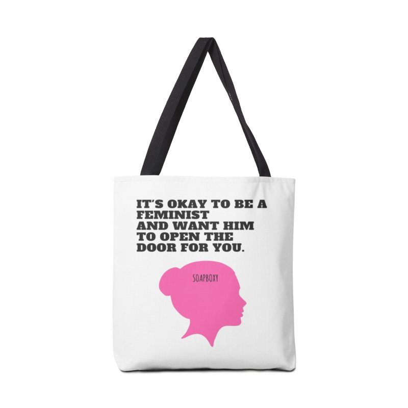 Okay Feminist Accessories Bag by Soapboxy Boutique
