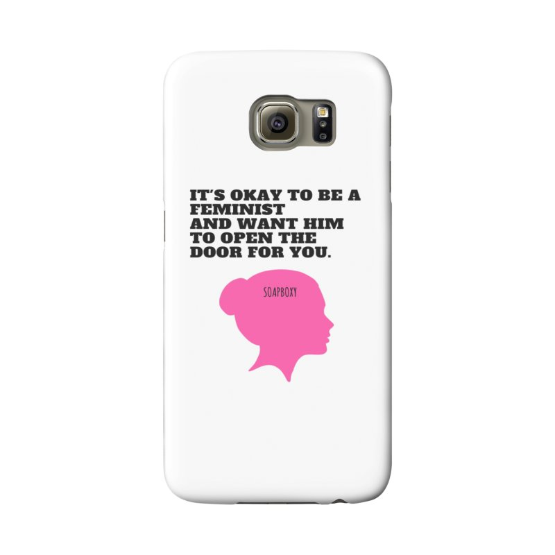 Okay Feminist Accessories Phone Case by Soapboxy Boutique