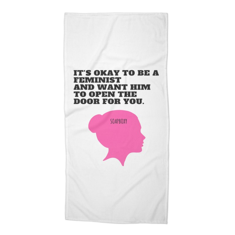 Okay Feminist Accessories Beach Towel by Soapboxy Boutique