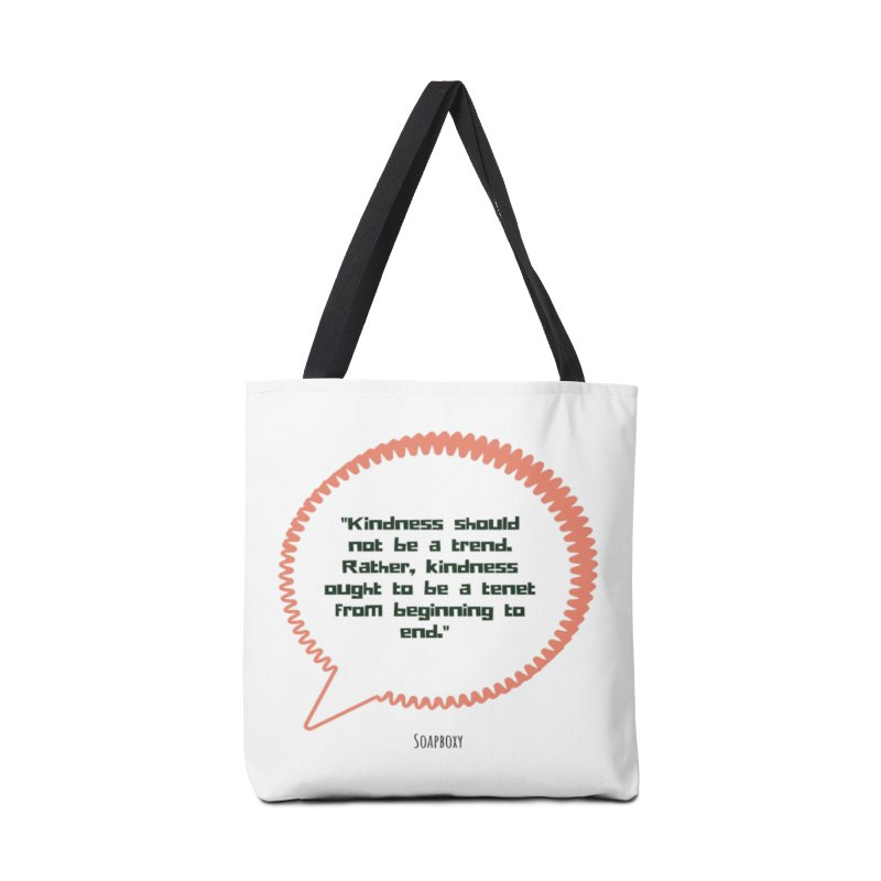 Kindness not a trend Accessories Tote Bag Bag by Soapboxy Boutique