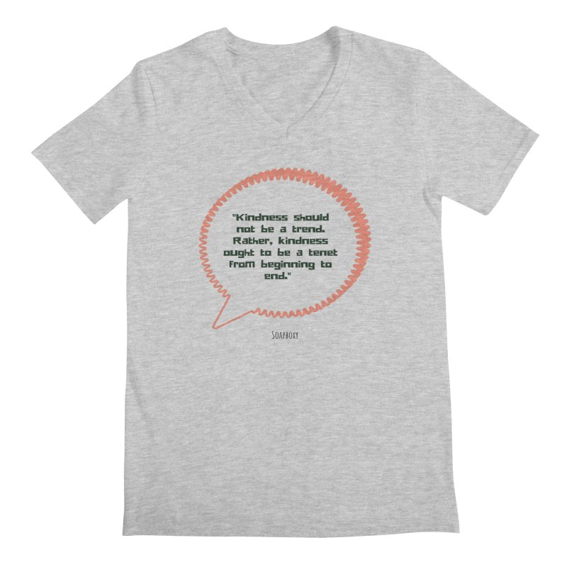 Kindness not a trend Men's Regular V-Neck by Soapboxy Boutique