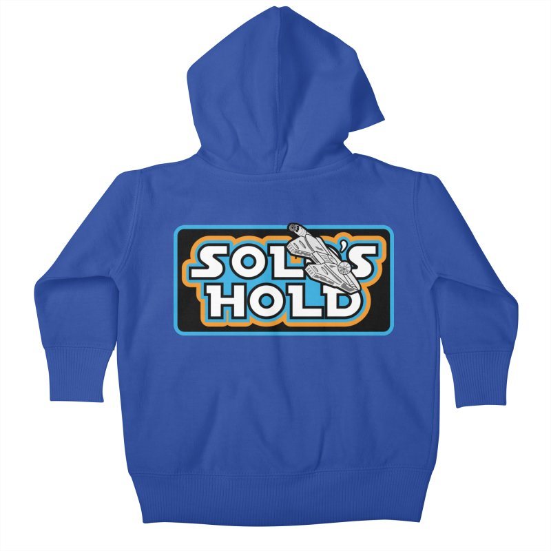 Blue Vintage Kids Baby Zip-Up Hoody by SolosHold's Artist Shop