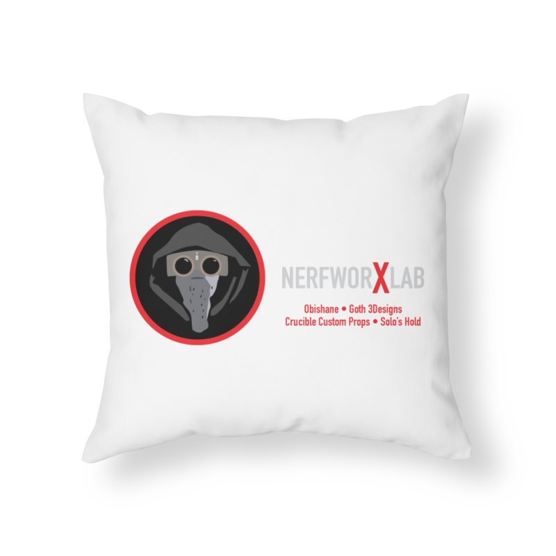 "NerfworXlab  ""Creators"" Home Throw Pillow by SolosHold's Artist Shop"