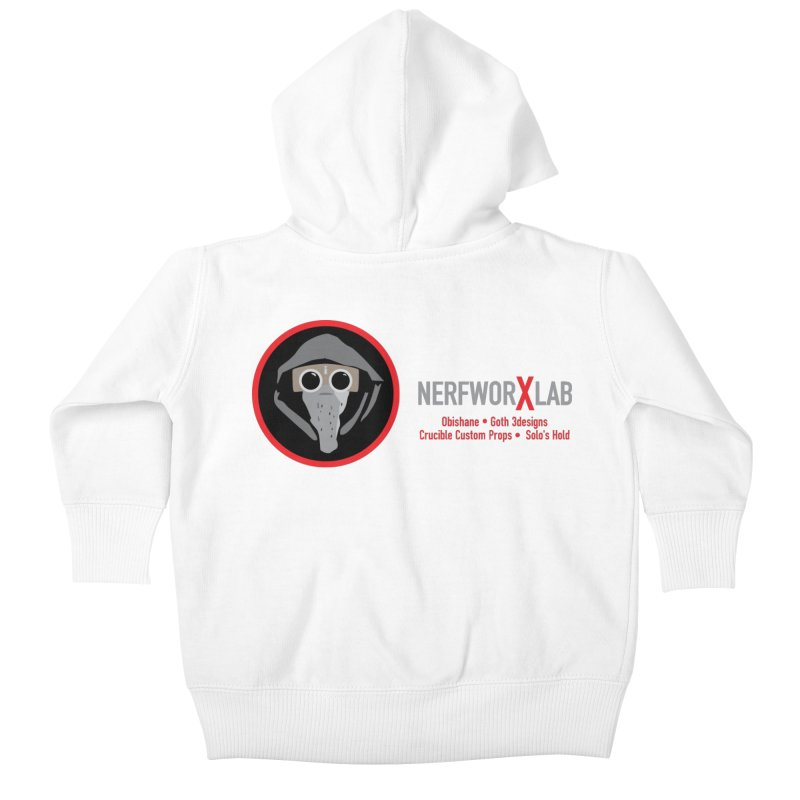 "NerfworXlab  ""Creators"" Kids Baby Zip-Up Hoody by SolosHold's Artist Shop"