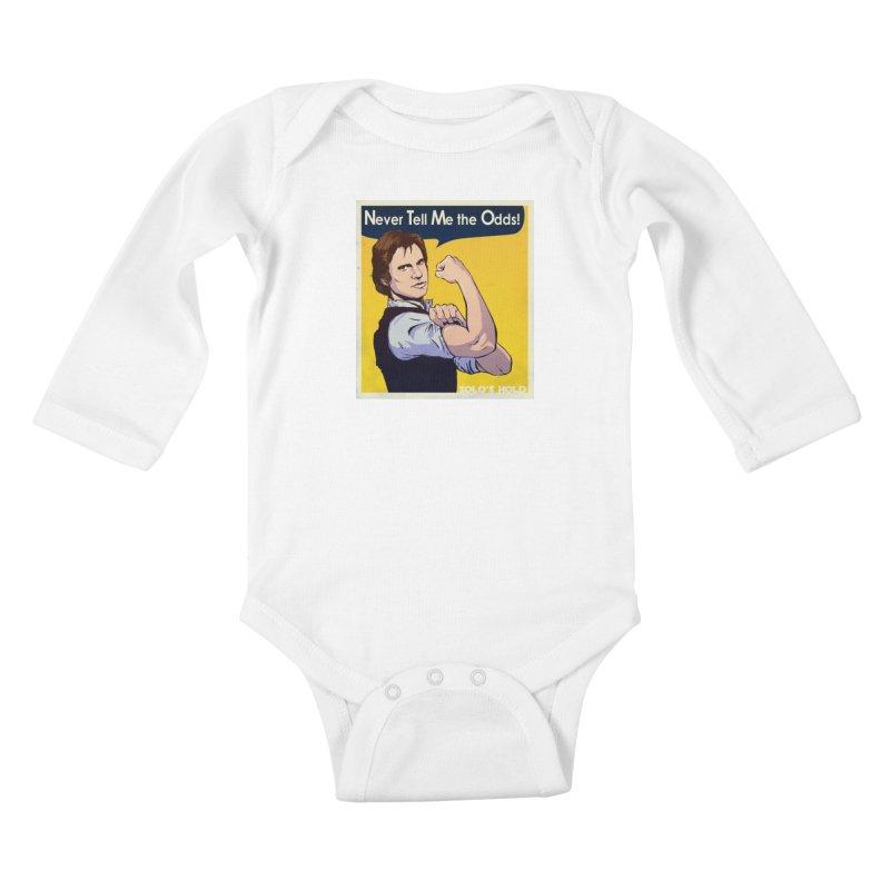 Never tell me the odds! Kids Baby Longsleeve Bodysuit by SolosHold's Artist Shop