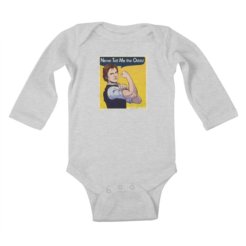 Never tell me the odds! Kids Baby Longsleeve Bodysuit by SolosHold's Artist Shop