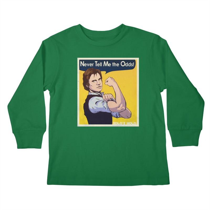 Never tell me the odds! Kids Longsleeve T-Shirt by SolosHold's Artist Shop