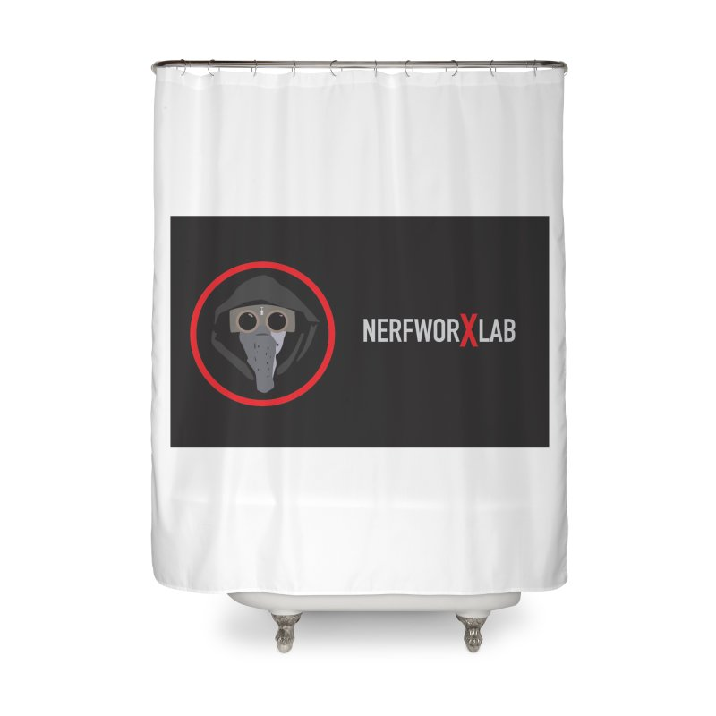 NerfworXlab Home Shower Curtain by SolosHold's Artist Shop