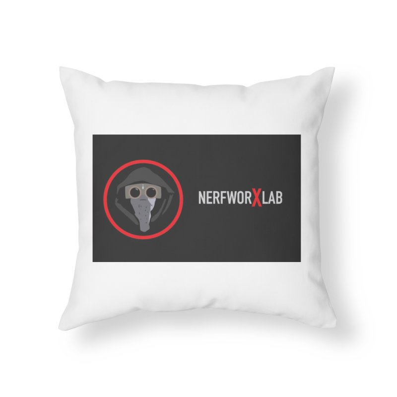 NerfworXlab Home Throw Pillow by SolosHold's Artist Shop