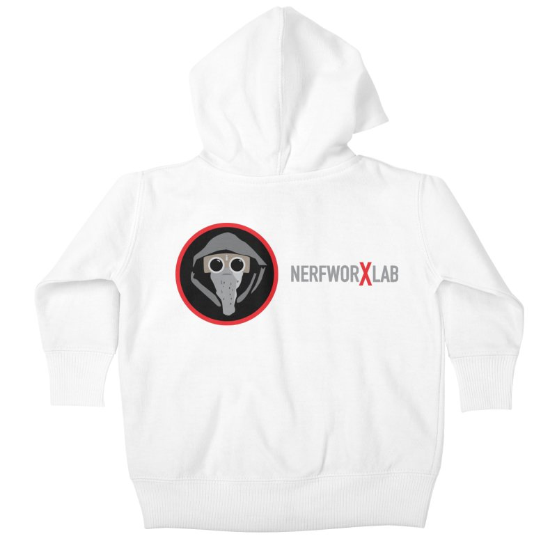 NerfworXlab Kids Baby Zip-Up Hoody by SolosHold's Artist Shop