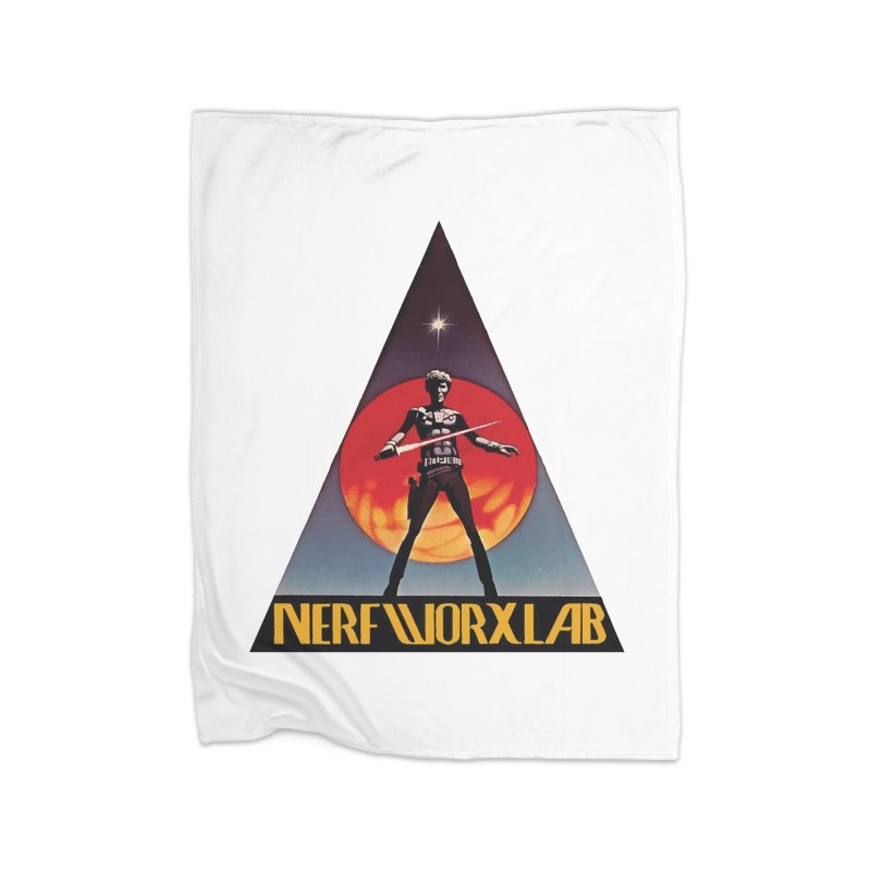 NERFWORXLAB VINTAGE Home Fleece Blanket Blanket by SolosHold's Artist Shop