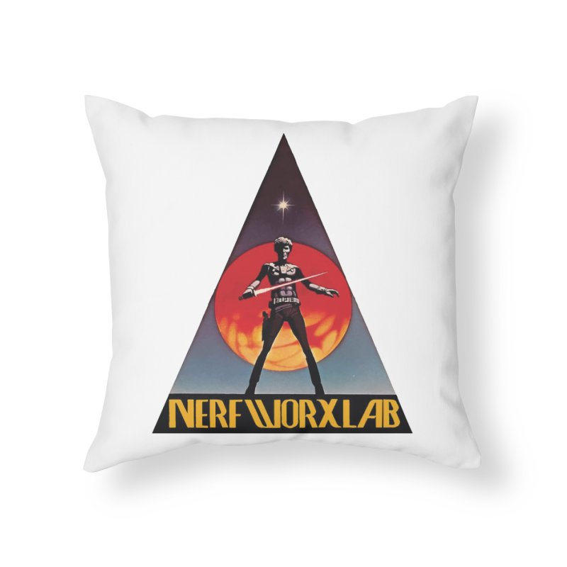 NERFWORXLAB VINTAGE Home Throw Pillow by SolosHold's Artist Shop