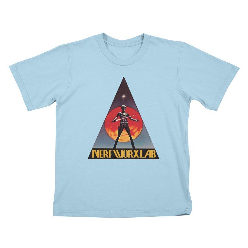 NERFWORXLAB VINTAGE Kids T-Shirt by SolosHold's Artist Shop