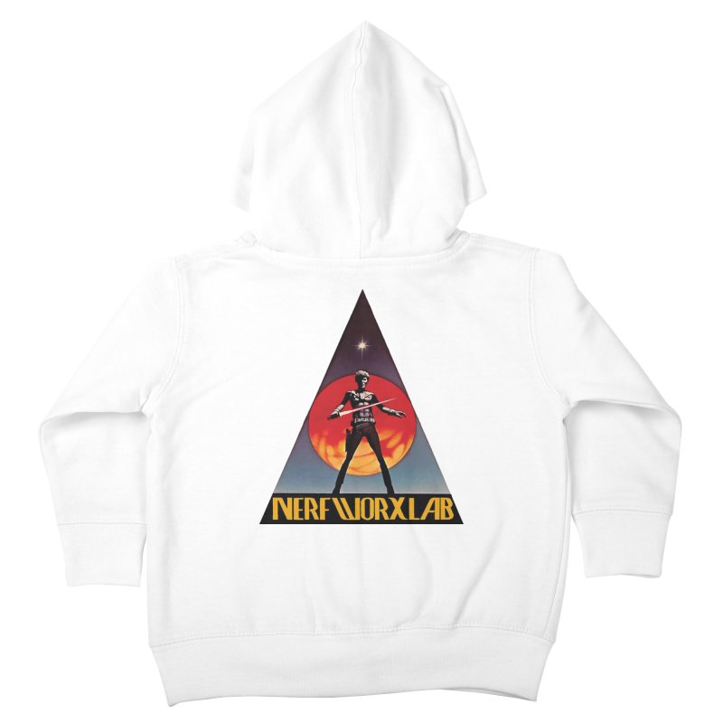 NERFWORXLAB VINTAGE Kids Toddler Zip-Up Hoody by SolosHold's Artist Shop
