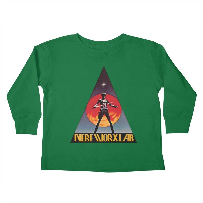 NERFWORXLAB VINTAGE Kids Toddler Longsleeve T-Shirt by SolosHold's Artist Shop
