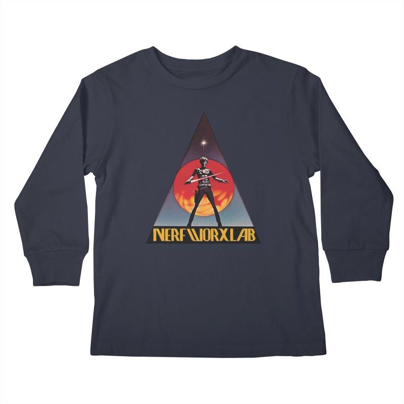 NERFWORXLAB VINTAGE Kids Longsleeve T-Shirt by SolosHold's Artist Shop