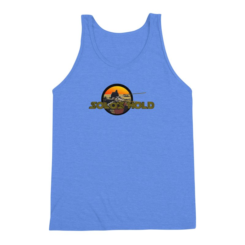 Red Moon Men's Triblend Tank by SolosHold's Artist Shop