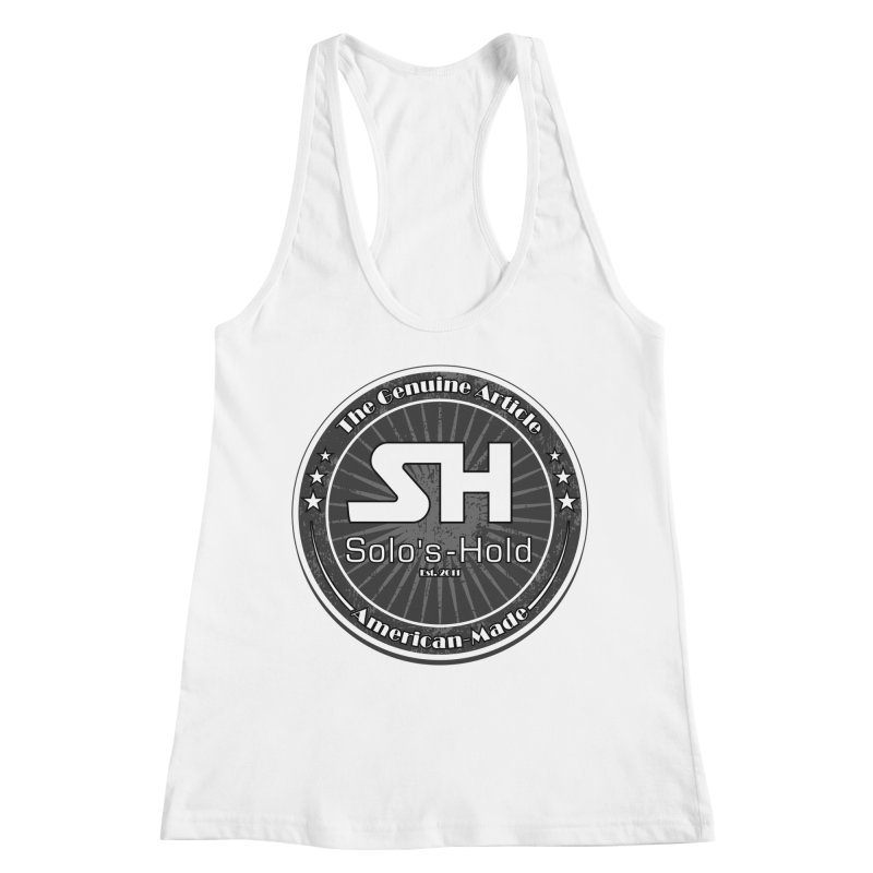 American Made Women's Racerback Tank by SolosHold's Artist Shop