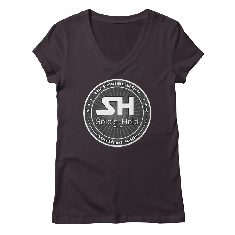 American Made Women's Regular V-Neck by SolosHold's Artist Shop