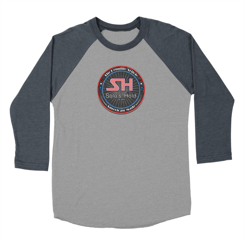 American Made - Patriot Edition Women's Baseball Triblend Longsleeve T-Shirt by SolosHold's Artist Shop