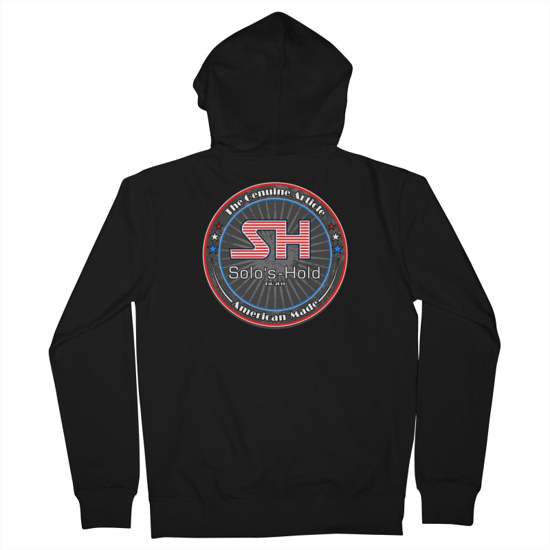 American Made - Patriot Edition Men's French Terry Zip-Up Hoody by SolosHold's Artist Shop