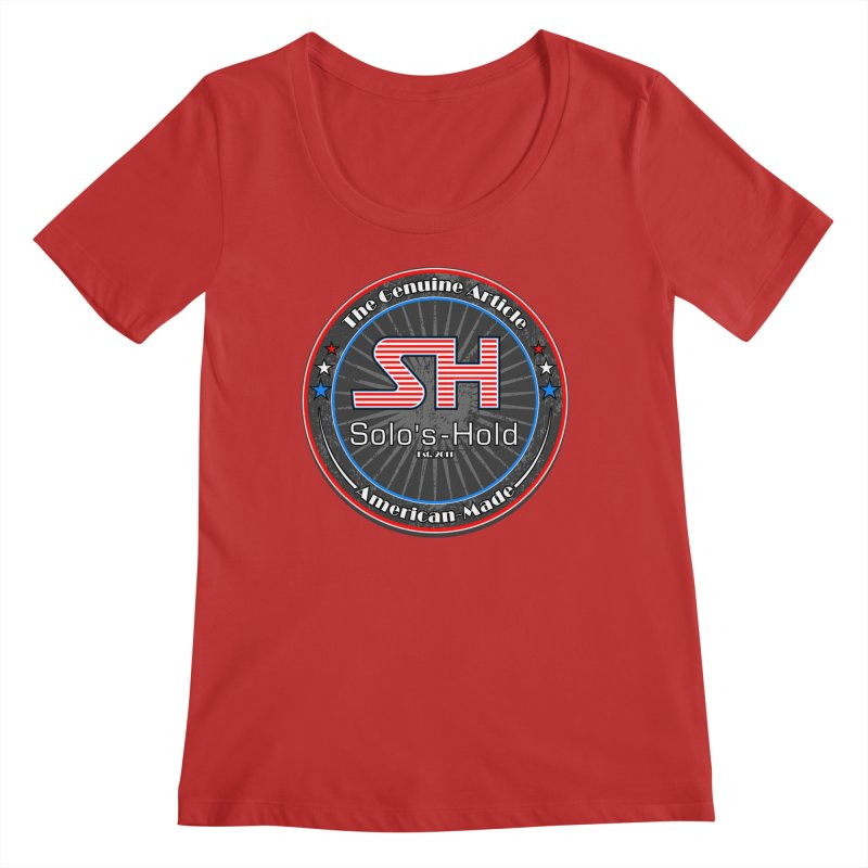 American Made - Patriot Edition Women's Regular Scoop Neck by SolosHold's Artist Shop