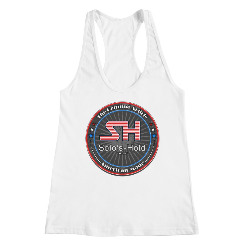 American Made - Patriot Edition Women's Racerback Tank by SolosHold's Artist Shop