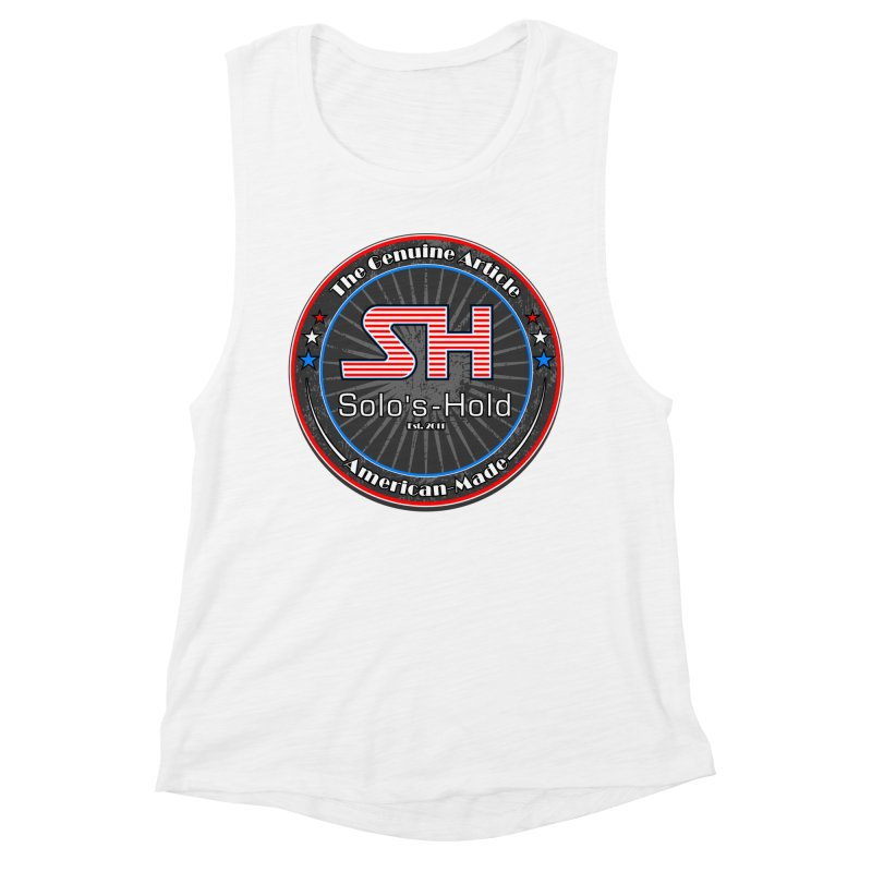 American Made - Patriot Edition Women's Muscle Tank by SolosHold's Artist Shop