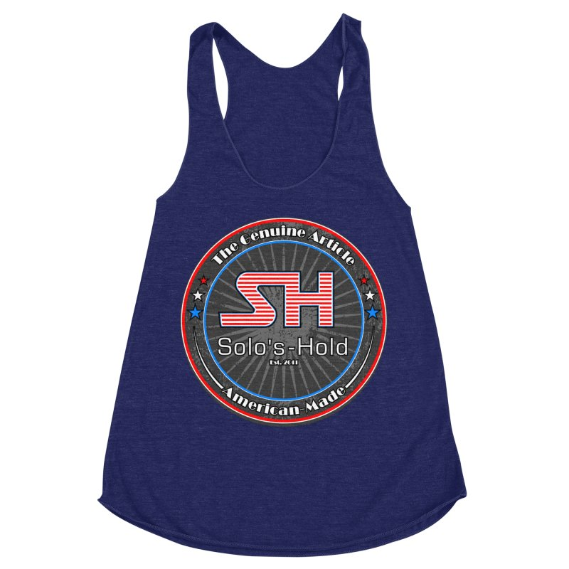 American Made - Patriot Edition Women's Racerback Triblend Tank by SolosHold's Artist Shop