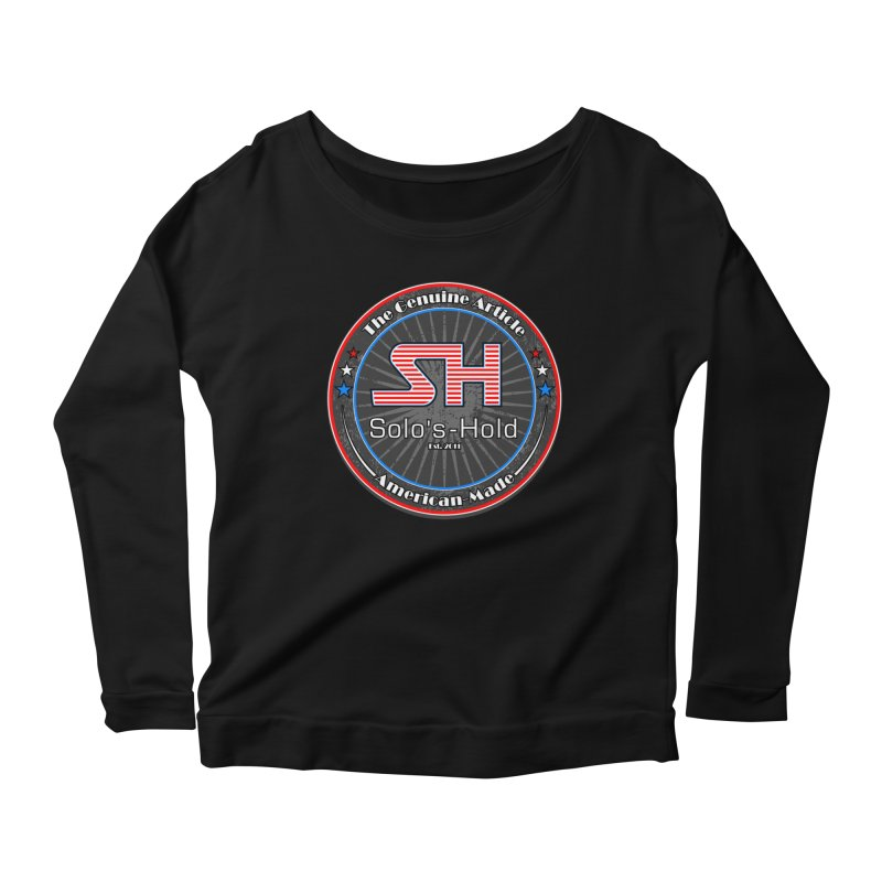 American Made - Patriot Edition Women's Scoop Neck Longsleeve T-Shirt by SolosHold's Artist Shop