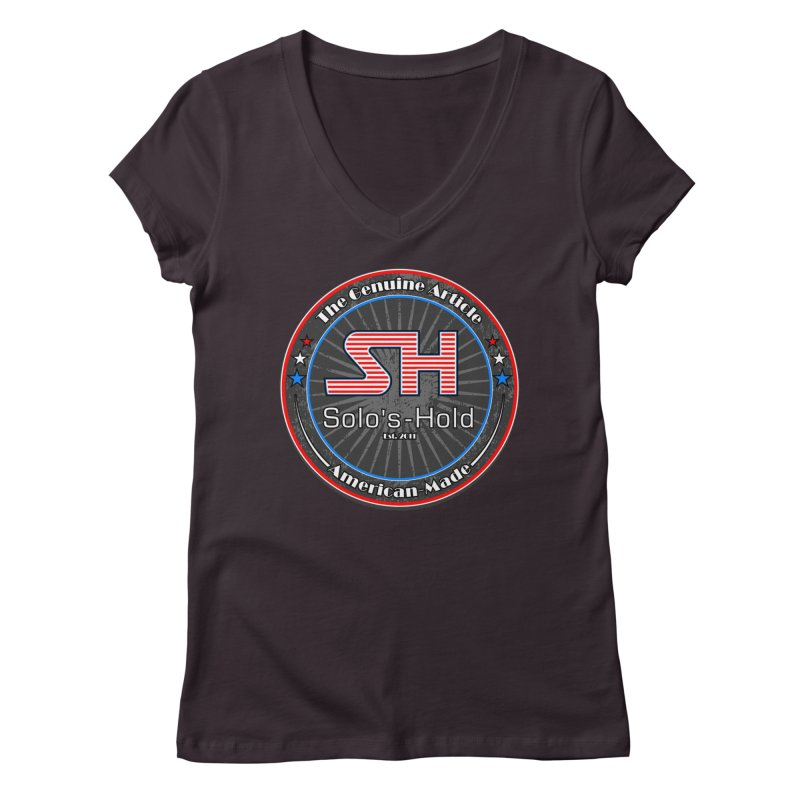 American Made - Patriot Edition Women's Regular V-Neck by SolosHold's Artist Shop