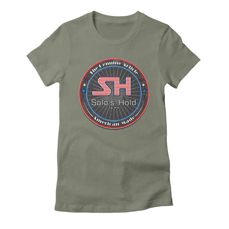 American Made - Patriot Edition Women's Fitted T-Shirt by SolosHold's Artist Shop