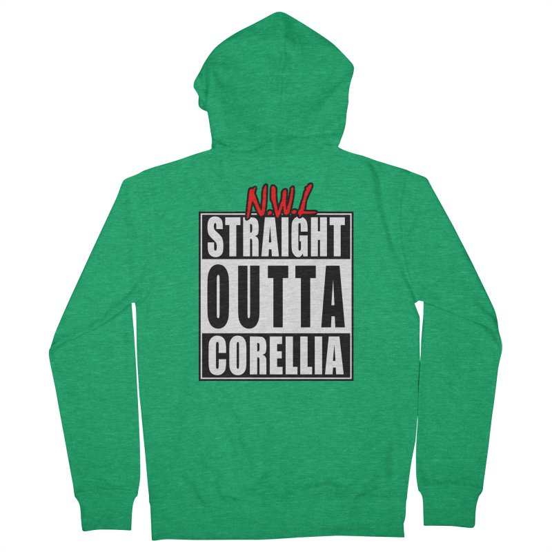 Straight Outta Corellia Men's French Terry Zip-Up Hoody by SolosHold's Artist Shop