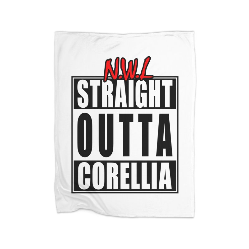 Straight Outta Corellia Home Fleece Blanket Blanket by SolosHold's Artist Shop