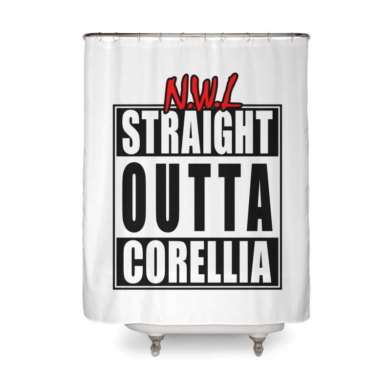 Straight Outta Corellia Home Shower Curtain by SolosHold's Artist Shop