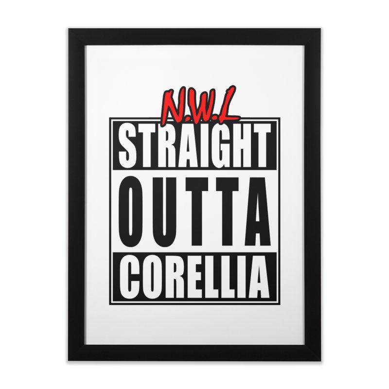 Straight Outta Corellia Home Framed Fine Art Print by SolosHold's Artist Shop