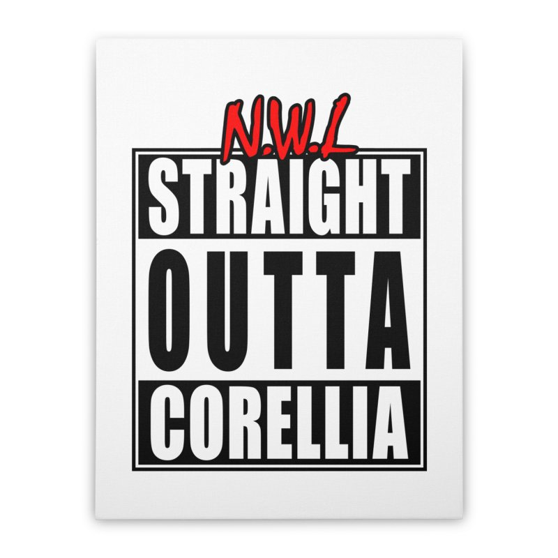 Straight Outta Corellia Home Stretched Canvas by SolosHold's Artist Shop