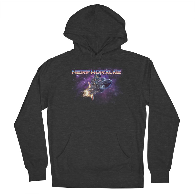 NERFWORX Retro Men's French Terry Pullover Hoody by SolosHold's Artist Shop
